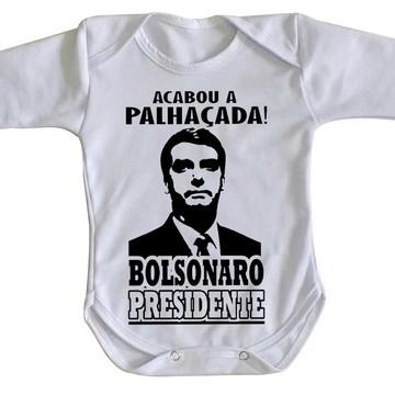 Body bebê roupa nenê Bolsonaro acabou a palhaçada