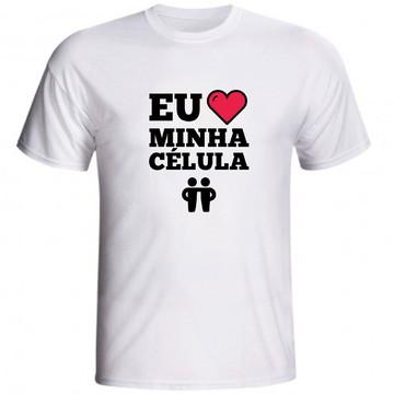 Camiseta Eu Amo Minha Célula Jovens Cristã Evangélica 02