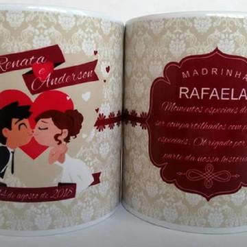 Caneca Personalizada Casamento Padrinhos