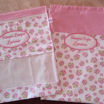 Saquinho de Roupa Personalizado Kit Organizador Menina