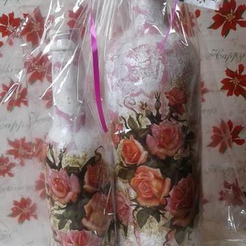 Kit de Garrafas Personalizadas Rosa Moscow