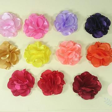 Flor em tecido para apliques com 4cm (atacado)