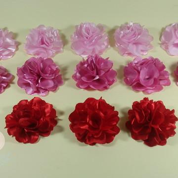 Flor em tecido para apliques com 7cm (atacado)