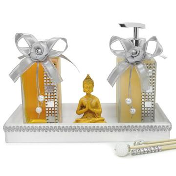 Buda Hindu com Conjunto Lavabo Decorado + Sabonete e Aroma