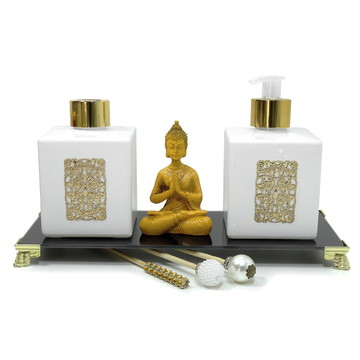 Buda Hindu com Conjunto Lavabo Cubo
