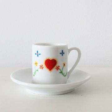 Xícara de porcelana Lenço dos Namorados