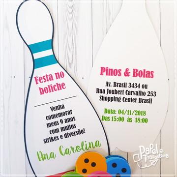 Convite Impresso Festa Boliche