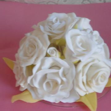 topo de bolo com flores pronta entrega