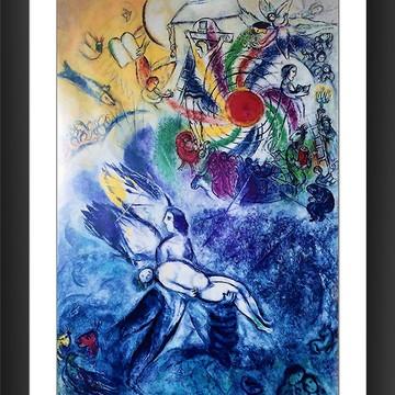 Quadro Marc Chagall A criação Do Homem Arte Abstrata Moderna