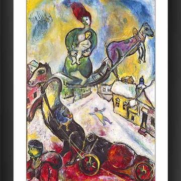 Quadro Marc Chagall A Guerra Art Abstrata Moderna Decor Sala