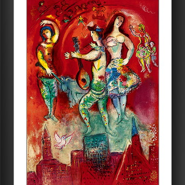 Quadro Marc Chagall Carmen Arte Abstrata Moderna Decor Sala