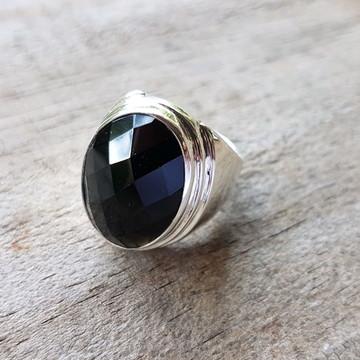 Anel Chevalier Obsidiana Negra