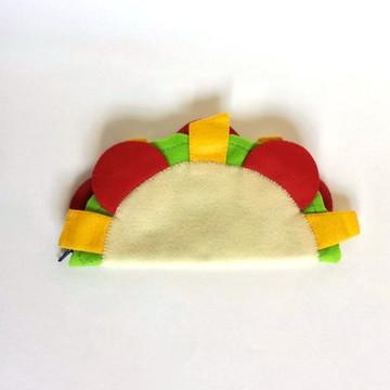 Porta Lápis em Feltro Taco Mexicano