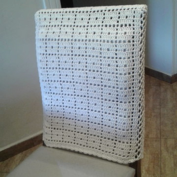 Capa para cadeira de crochê Lisa