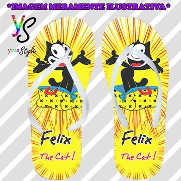 Chinelo Personalizado Gato Felix