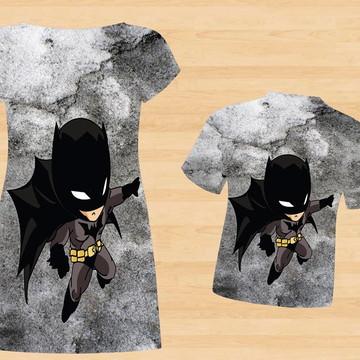 Kit Pai Mãe e Filho Batman Baby Cute (3 peças)
