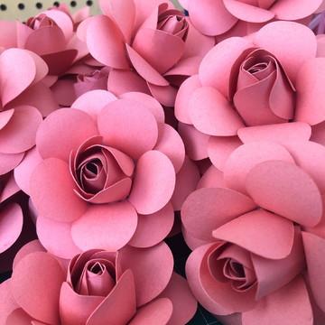 Mini Rosa de papel