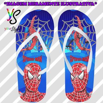 Chinelo Personalizado Homem-aranha