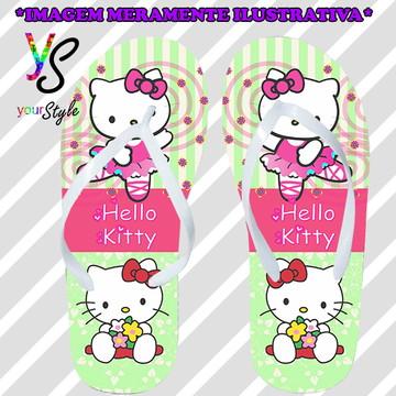 Chinelo Personalizado Hello Kitty