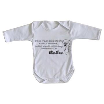 Body bebê roupa nenê Chico Xavier espirita Alan kardec