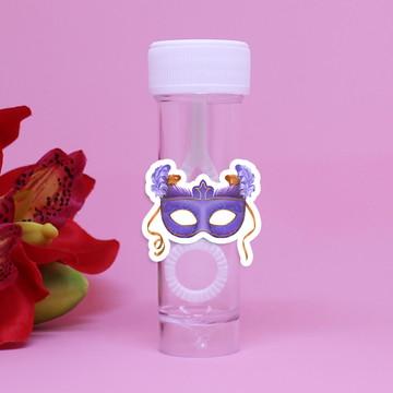 Tubo bolha de sabão - máscara carnaval