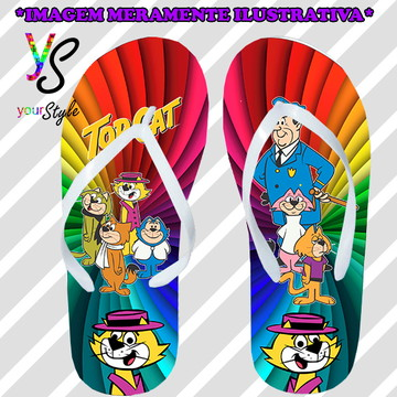 Chinelo Personalizado Top Cat