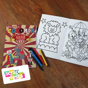 Revista Colorir + Giz de Cera Festa Circo