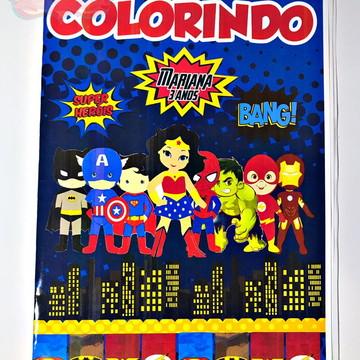 REVISTINHA DE COLORIR - SUPER HEROIS