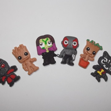 Mini aplique Guardiões da Galáxia/Vingadores Ultimato biscui