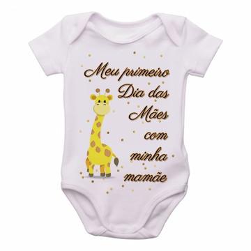 Body bebê roupa nenê Girafa primeiro Dia das Mães mamãe