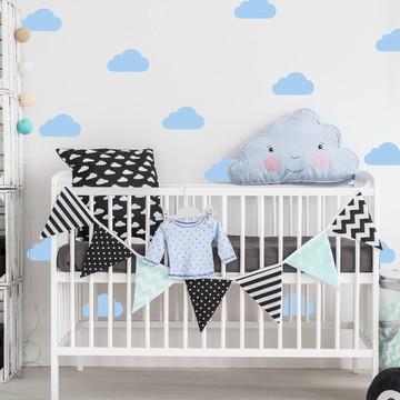 Adesivo nuvem azul bebe