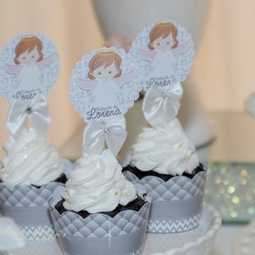 Wrapper Cupcake com topper Tema Batizado