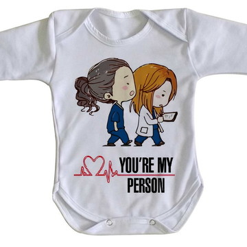 Body bebê roupa nenê Greys Anatomy medicas hospital