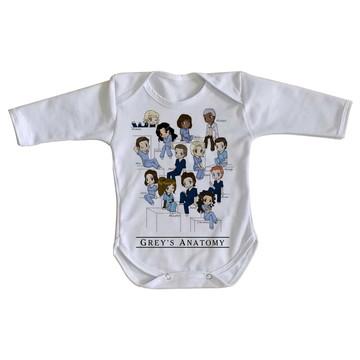 Body bebê roupa nenê Greys Anatomy turma seriado