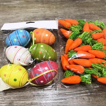 Ovos de plástico para decoração de Páscoa - kit 2 itens