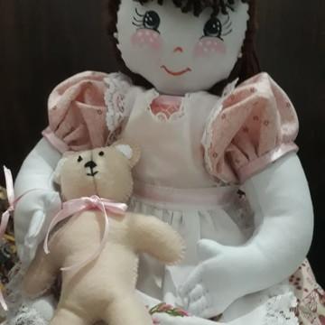 Boneca de Pano Modelo Bianca