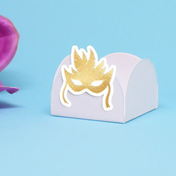 Forminha para doce - foil - máscara carnaval
