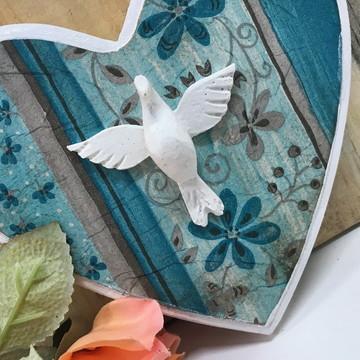 Placa Decorativa Coração Divino
