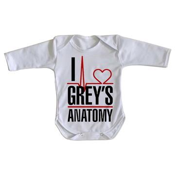 Body bebê roupa nenê I love Greys Anatomy serie