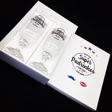 Kit Padrinhos de Casamento Convite Lembrança SUPER PADRINHOS