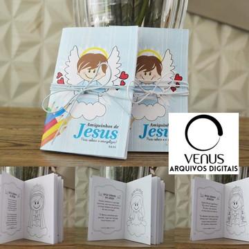 Arquivo De Corte Silhouette Livro Colorir Batizado Anjo