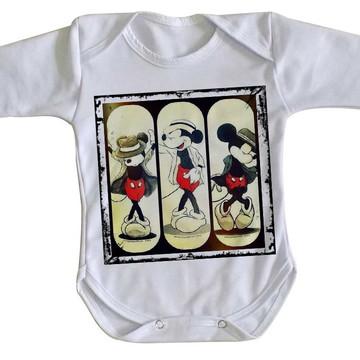 Body bebê roupa nenê Mickey mouse disney Michael jackson