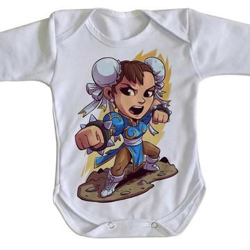 Body bebê roupa nenê mini chun li street figther game