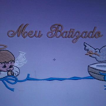 Matriz de Bordado Meu Batizado
