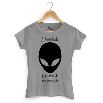 Camiseta Feminina Baby Look Cinza Mesclado A Verdade
