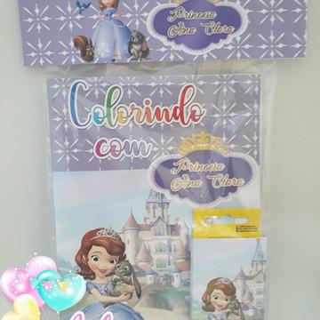 Livro de colorir com giz de Cera