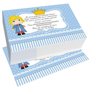 convite pequeno principe sem envelope aniversario infantil