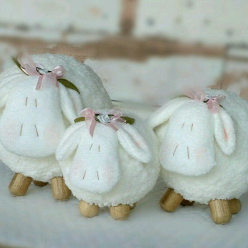 Trio de Ovelhas Bolinha para Nicho