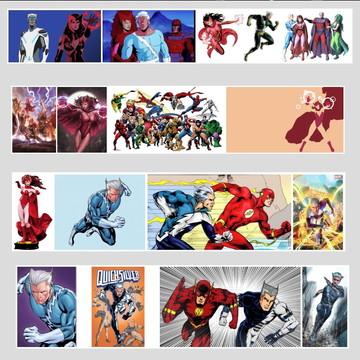 Quadro Marvel Feiticeira Escarlate Mercurio Wanda Avengers