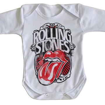Body bebê roupa nenê rolling stone retro boca lingua